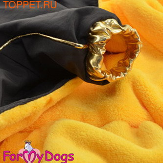 ForMyDogs Комбинезон зимний на подкладке из мягкого меха, цвет коричневый/золото, модель для мальчиков, размер 8 (фото, вид 1)