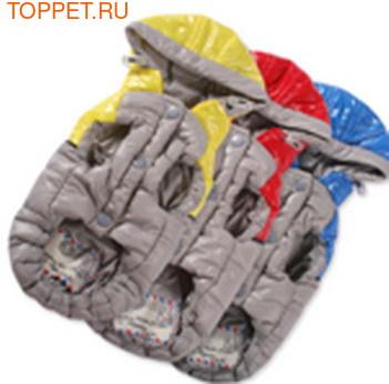 I's Pet Куртка теплая, цвет серый/красный, размер S (фото, вид 1)