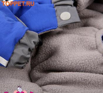 """ForMyDogs Дождевик для собак Серия """"Футбол"""" синий, модель для мальчиков, размер 14 (фото, вид 1)"""