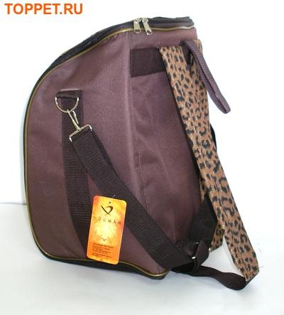 "DOGMAN Рюкзак для собак и кошек""Вояж"", леопард, размер 38х29х22см (фото, вид 1)"