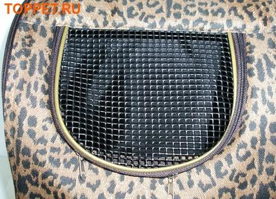 "DOGMAN Рюкзак для собак и кошек""Вояж"", леопард, размер 38х32х30см (фото, вид 2)"