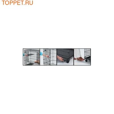 """MidWest Клетка для кошек """"Cat Cage"""" 91.4х58.5х127м черная (фото, вид 1)"""
