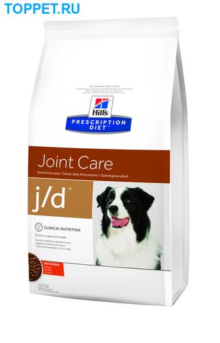 HILL'S Диета для собак J/D лечение заболеваний суставов сух. (фото, вид 1)