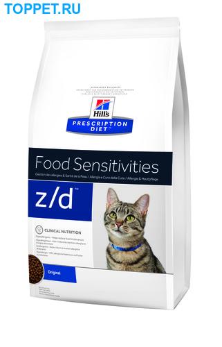 HILL'S Диета для кошек Z/D лечение острых пищевых аллергий 2кг (фото, вид 1)