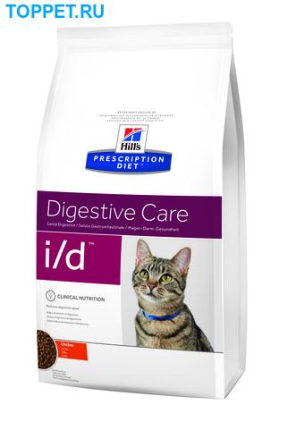 HILL'S Диета для кошек I/D лечение ЖКТ сух. (фото, вид 1)