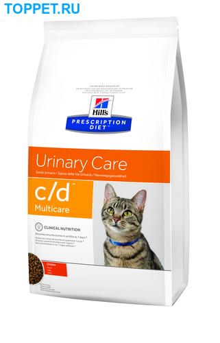 HILL'S Диета для кошек С/D профилактика МКБ струвиты сух. (фото, вид 1)