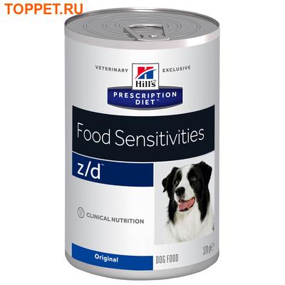HILL'S Консервы Диета для собак Z/D лечение острых пищевых аллергий 370г (фото, вид 1)