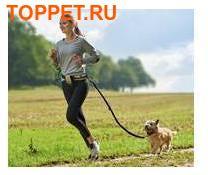 Hunter Пояс с поводком 120 см для бега с собакой Tacoma Active черный/бежевый (фото, вид 1)