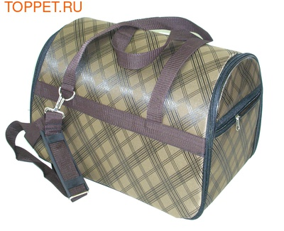 Fluk Сумка-переноска для собак и кошек №2 коричневая с карманом, 37х24х26см (фото, вид 1)