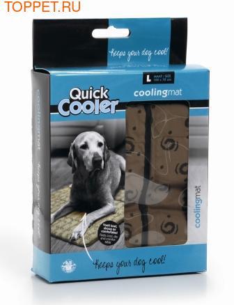 Beeztees Коврик для собак охлаждающий в жару, коричневый 100*72*1см (фото, вид 1)