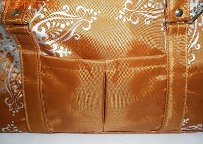 DOGMAN Сумка -переноска теплая с мехом №8М, кирпичная, 39х19х24см. (фото, вид 2)