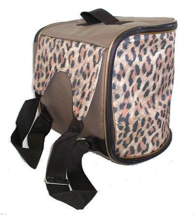 DOGMAN Рюкзак для собак и кошек малый леопард, размер 29х26х25см (фото, вид 1)