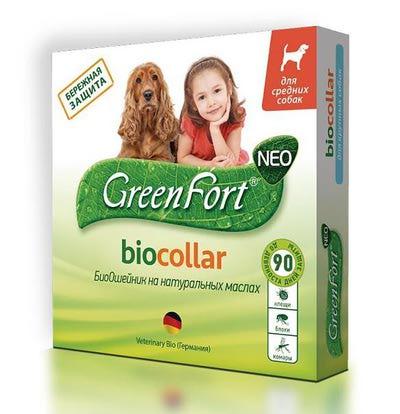Грин Форт БиоОшейник G205 для собак средних пород от блох и клещей, 65см (фото, вид 1)