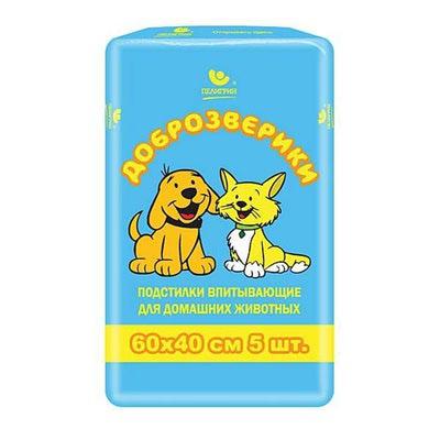 Пелигрин Пеленки для собак Доброзверики Classic для собак 60х40см (фото, вид 1)