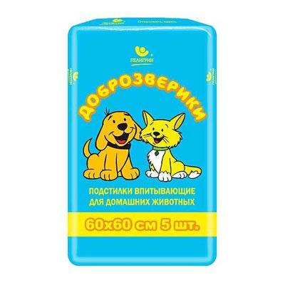Пелигрин Пеленки Classic для щенков и собак 60х60см (фото, вид 1)