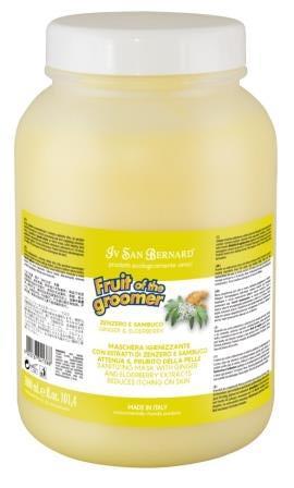 IV SAN BERNARD Fruit of the Grommer Ginger&Elderbery Восстанавливающая маска с противовоспалительным эффектом (фото, вид 2)
