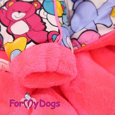 """ForMyDogs Теплый комбинезон для маленьких собак """"Мишки"""", размер 8, модель для девочек (фото, вид 1)"""