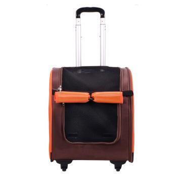 IBBI Тележка-трансформер Liso прямоугольная 40 х 31 х 44 см, коричневая/оранжевая (фото, вид 1)