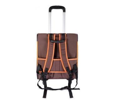 IBBI Тележка-трансформер Liso прямоугольная 40 х 31 х 44 см, коричневая/оранжевая (фото, вид 2)