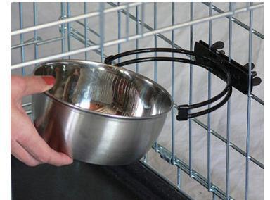 MidWest Миска для клеток и вольеров нержавеющая сталь (фото, вид 1)