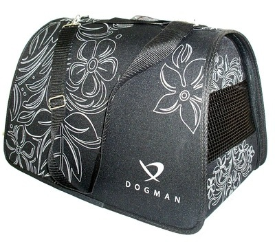 DOGMAN Сумка -переноска для собак Лира, черная (фото, вид 1)