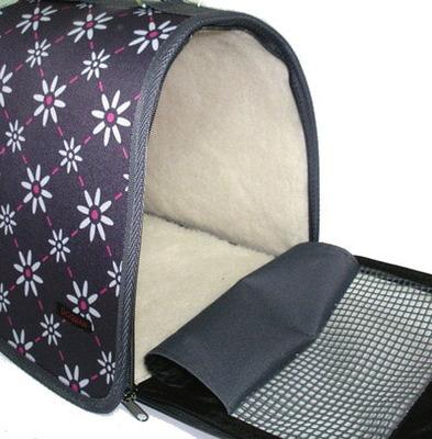 DOGMAN Сумка -переноска для собак Лира с мехом, цвет МИКС (фото, вид 1)