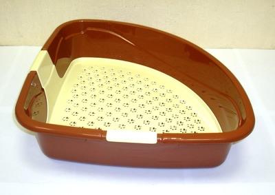 DOGMAN Туалет для кошек Триплекс угловой, 40х40х15см (фото, вид 2)