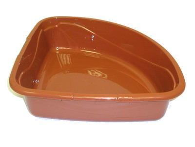 DOGMAN Туалет для кошек Триплекс угловой, 40х40х15см (фото, вид 3)