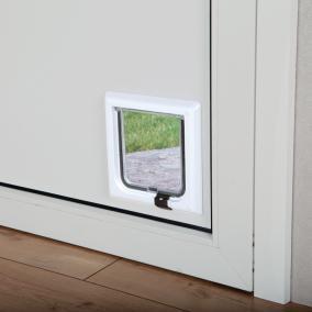 TRIXIE TRIXIE Дверца для кошки 16,5см х 17,4см, с 2 функциями, белая (фото, вид 1)