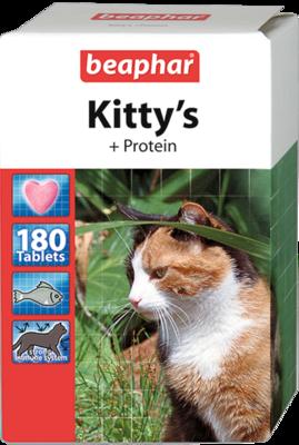 Beaphar Kittys Витамины для кошек Сердечки Протеин (фото, вид 1)