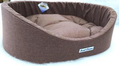Бобровый дворик Лежак для собак «СЛАДКИЙ СОН» Рогожка с бортиком (фото, вид 2)