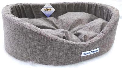 Бобровый дворик Лежак для собак «СЛАДКИЙ СОН» Рогожка с бортиком (фото, вид 3)