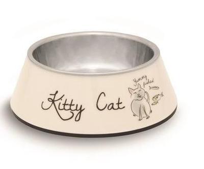 Beeztees Миска Kitty 2в1 для кошек 14х4,5см/160мл (фото, вид 1)