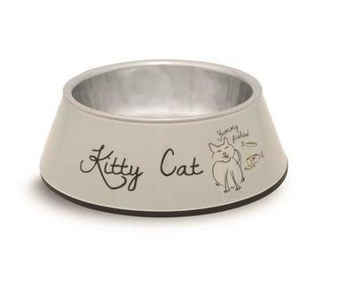 Beeztees Миска Kitty 2в1 для кошек 14х4,5см/160мл (фото, вид 2)