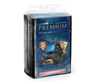 PetMil Пеленки впитывающие одноразовые с суперабсорбентом Premium Black (фото, вид 2)