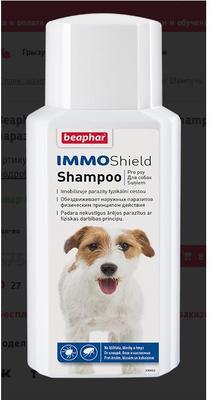 Beaphar IMMO Shield Shampoo шампунь от паразитов для собак 200 мл (фото, вид 1)