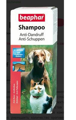 Beaphar Anti-Dandruff шампунь против перхоти для собак и кошек 200 мл. (фото, вид 1)
