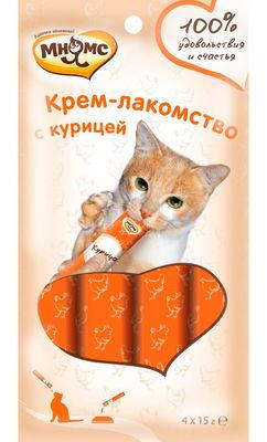МНЯМС Крем-лакомство для кошек с курицей 15 г (фото, вид 1)