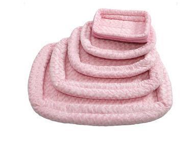 MidWest Лежанка Fashion плюшевая розовая (фото, вид 1)