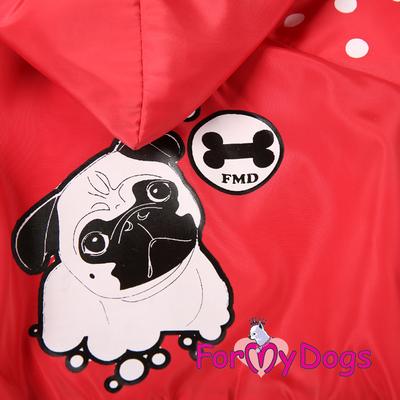 ForMyDogs Дождевик для собак красный, модель для девочек, размер 12, 16 (фото, вид 1)