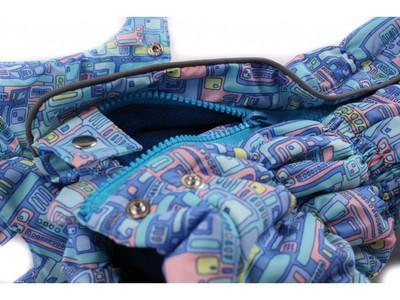 ZooPrestige Комбинезон для собак Дутик, голубой/орнамент, размер XL, спина 36-40см (фото, вид 1)