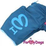 ForMyDogs Комбинезон-дождевик для собак синий, модель для мальчиков, размер 10 (фото, вид 1)