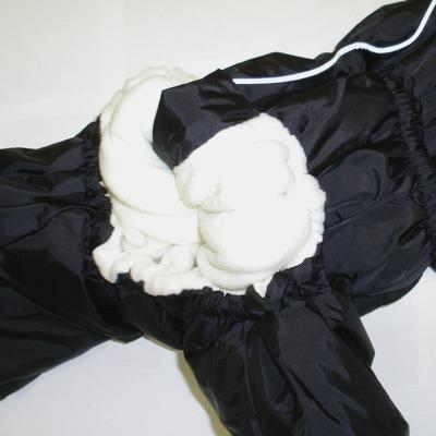 ZooAvtoritet Комбинезон для собак Дутик, черный, размер L, спина 32-36см (фото, вид 1)