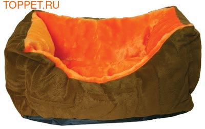 Зооэкспресс Лежанка пухлик, меб.ткань и мех, цвет в ассортименте (фото, вид 1)