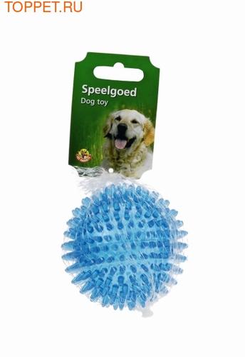 Beeztees Игрушка для собак Мяч игольчатый голубой 8см (фото, вид 1)