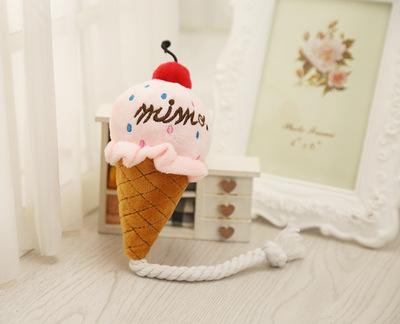 Al1 Игрушка для собак мягкая Мороженое 13см (фото, вид 1)