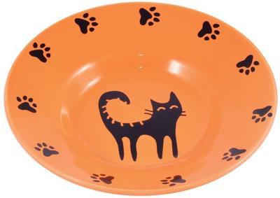КерамикАрт Миска керамическая-блюдце для кошек 140 мл (фото, вид 1)