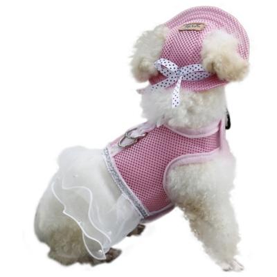Al1 Панамка для собак розовая, размер S (фото, вид 1)