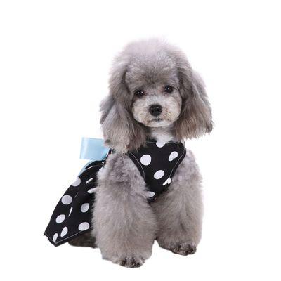 Al1 Платье для собак черное в горох, размер S (фото, вид 2)