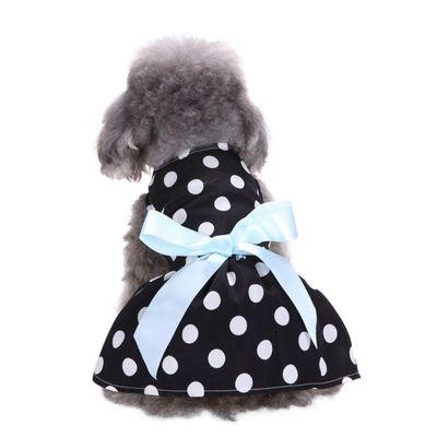 Al1 Платье для собак черное в горох, размер S (фото, вид 3)